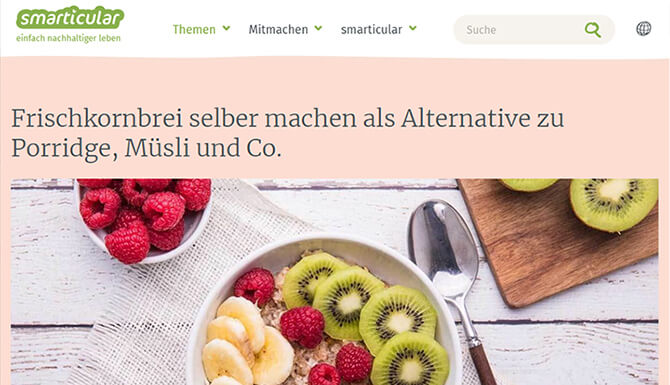 Frischkornbrei - Alternative zu Porridge, Müsli und Co.